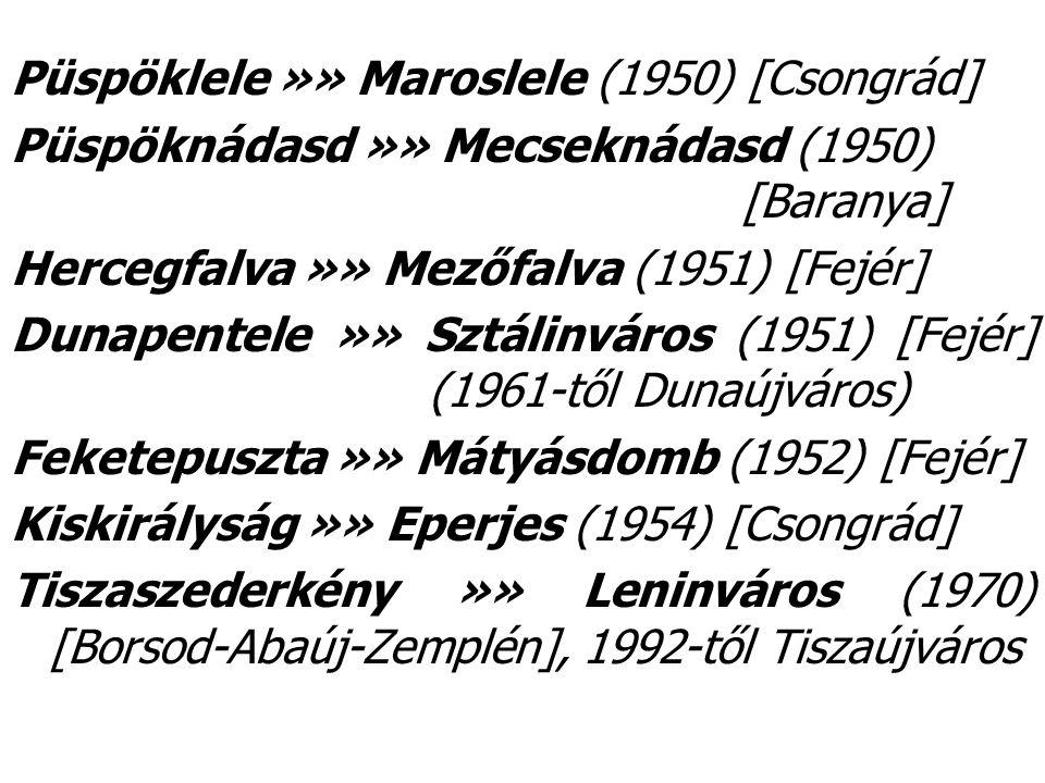 Püspöklele »» Maroslele (1950) [Csongrád]